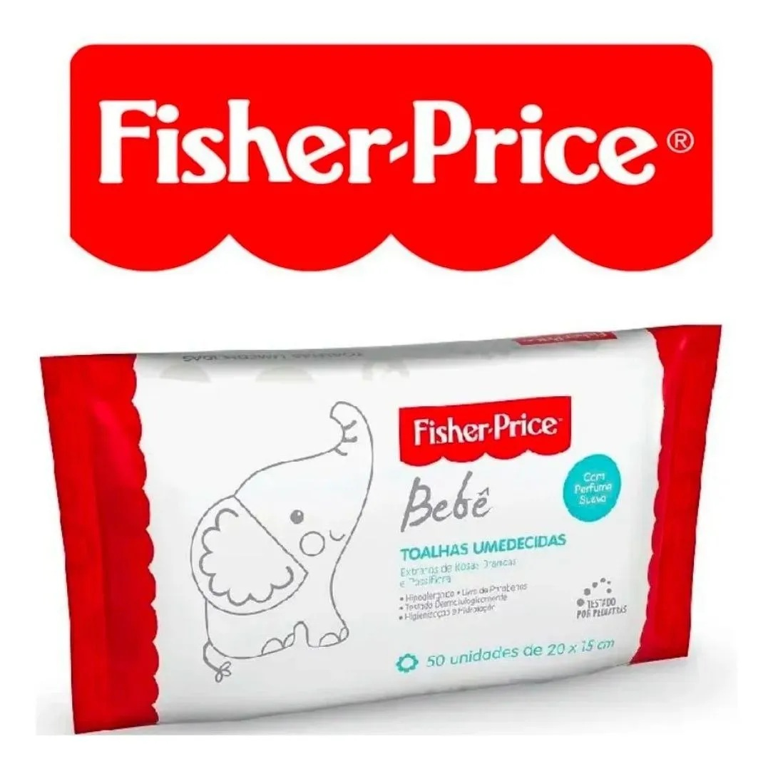 Lenço Umedecido Atacado Perfume Suave 8 Pacotes Fisher Price