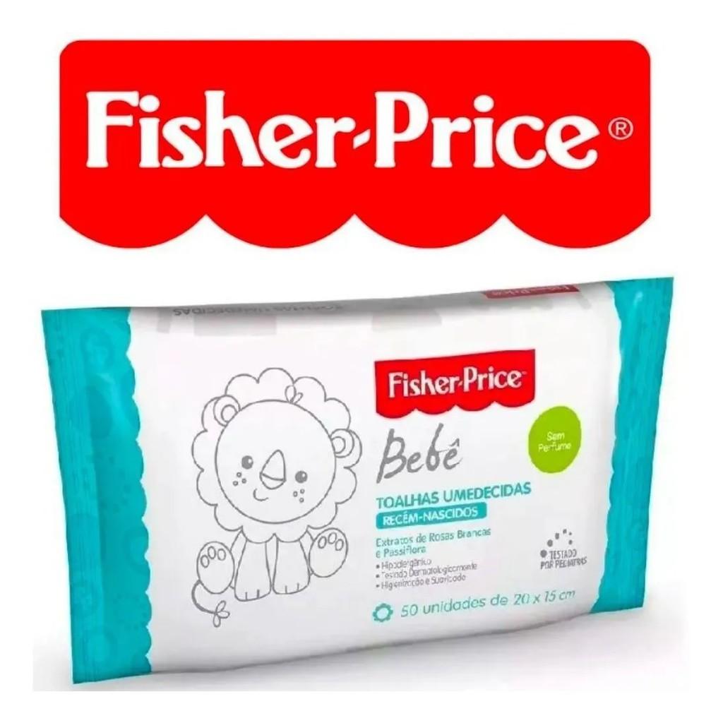 Lenço Umedecido Bebe Fisher Price Sem Perfume 4 Pacotes