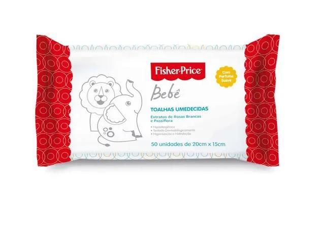 Lenço Umedecido Fischer Price Para Bebê Perfume Suave