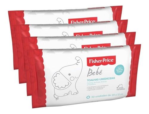 6 Pacotes Lenços Umedecidos Fischer Price C/ Perfume