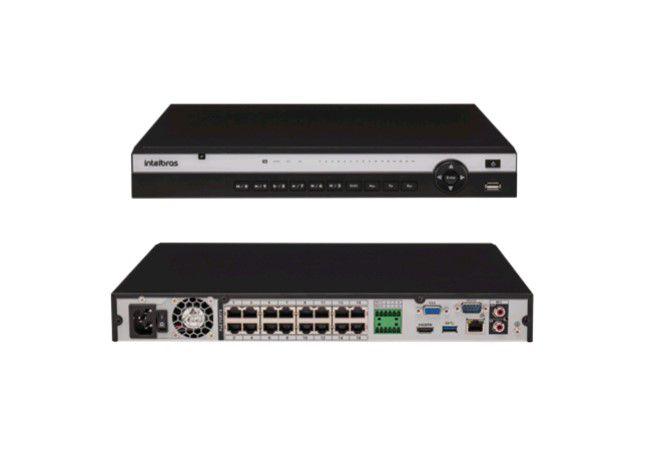 Nvr Gravador Vídeo 16 Canais Nvd 3116P Intelbras HD 4TB Purple