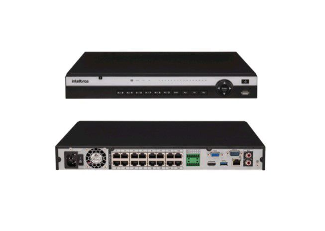 Nvr Gravador 16 Canais Nvd 3116P Intelbras HD 12 TB Purple