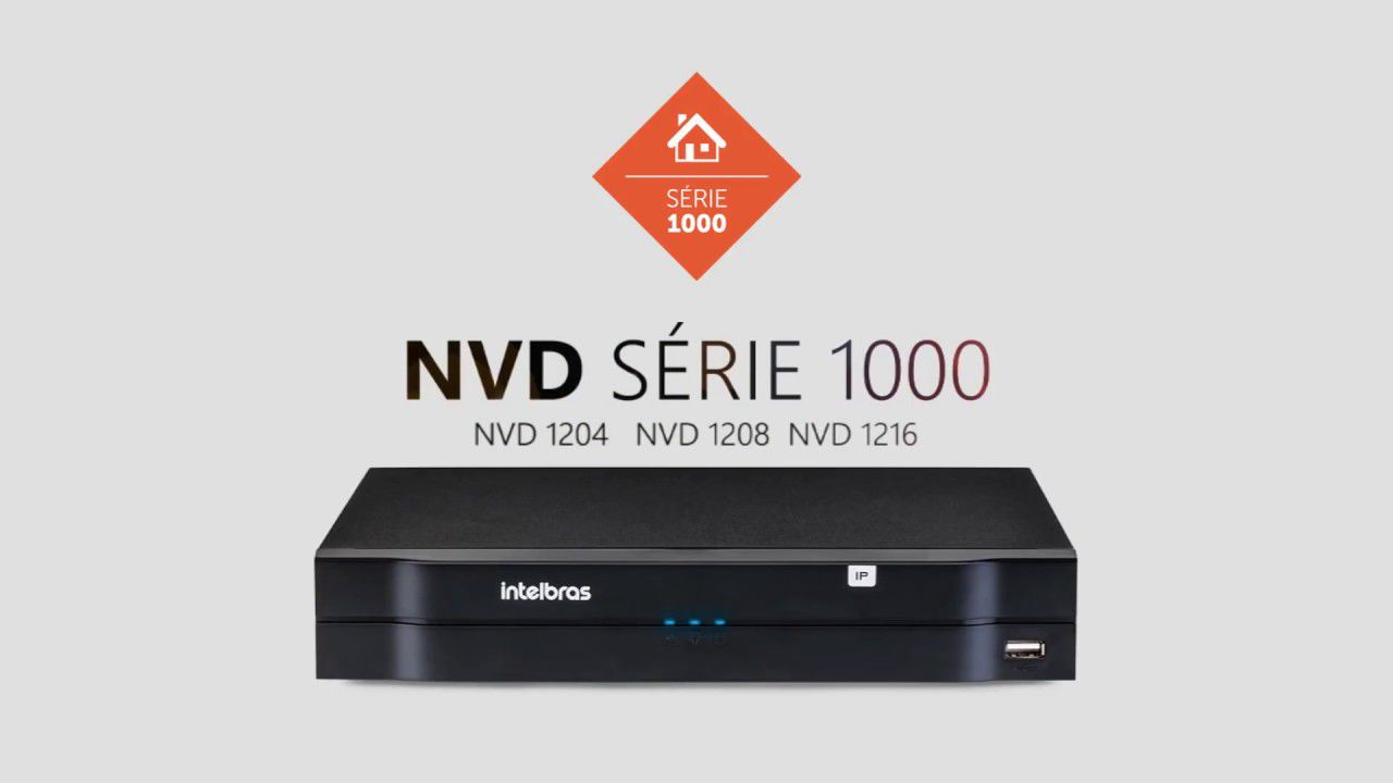 Nvr Gravador Vídeo 4 Canais Nvd 1204 Intelbras HD01TB Purple