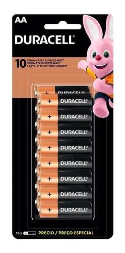 Pilha Aa Duracell Pacote C/ 16 Unidades Mn1500b16 Promoção
