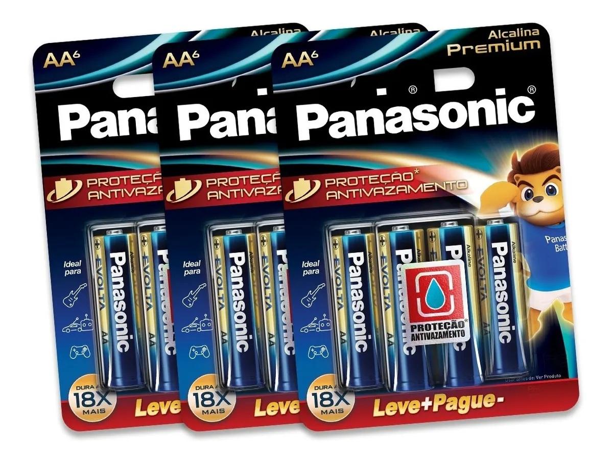 Pilha Aa Panasonic Alcalina Premium Leve 12 Pague 9 Pilhas