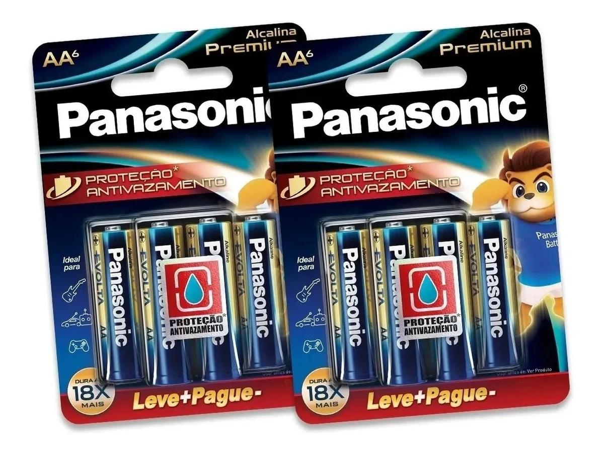 Pilha Aa Panasonic Alcalina Premium Leve 8 Pague 6 Pilhas