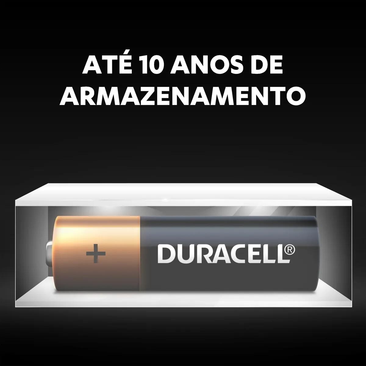 Pilha AAA Palito Alcalina Duracell 1 Cartela 6x2 C/12 Pilhas