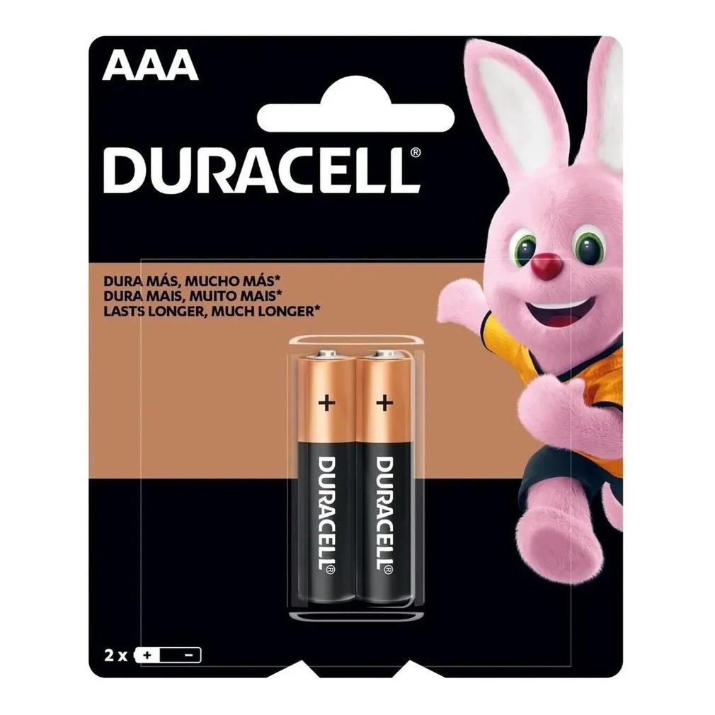 Pilha AAA Palito Duracell Alcalina C/2 Unidades