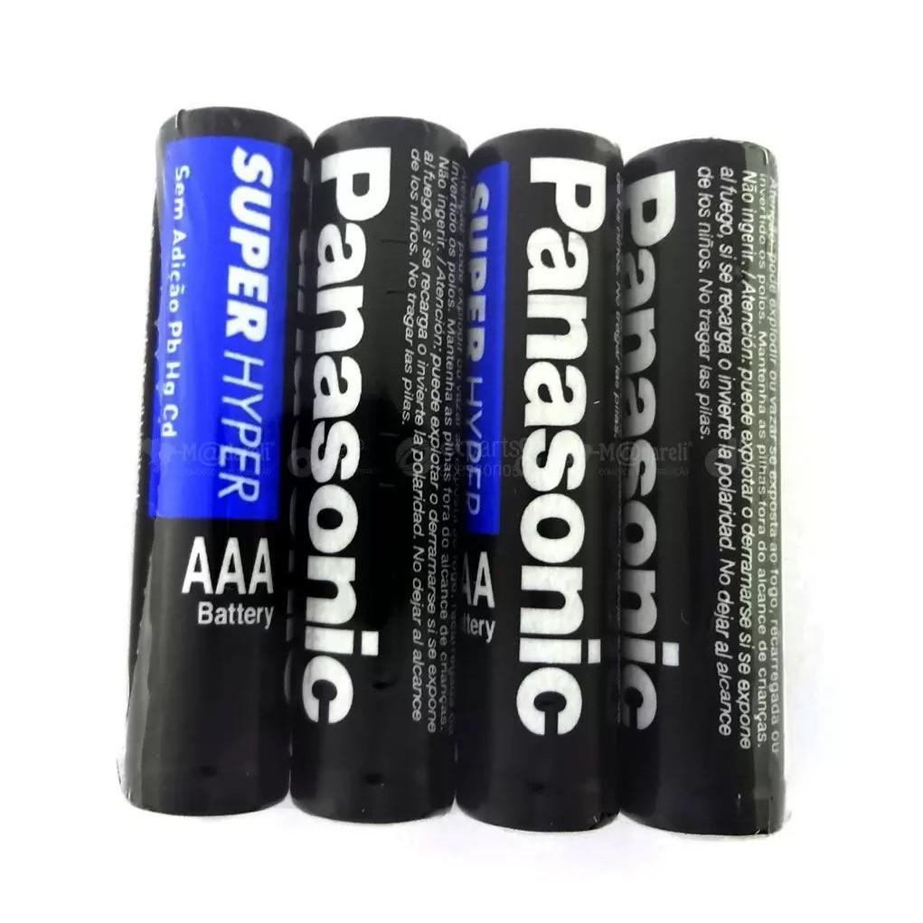 Pilha AAA Panasonic Comum Leve 8 Pague 6 Unidades Palito Super Hyper Antivazamento