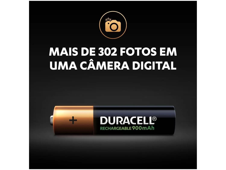 Pilha AAA Palito Recarregável Duracell 900 Mah C/2 Unidades Original