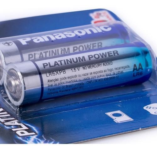Pilha AA Alcalina Premium Panasonic Platinum Power 4 Un Kit