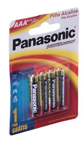 Pilha AAA Alcalina Panasonic Palito Leve 4 Pague 3 Promoção