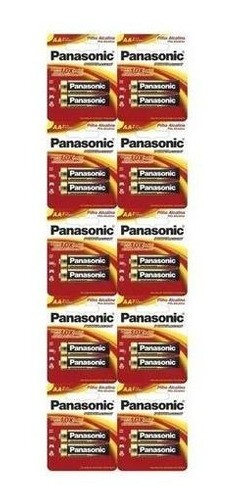 Pilha AA Alcalina Panasonic Pequena Cartela C/100 Unidades