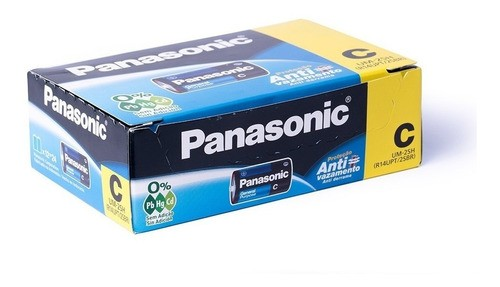 Pilha C Media Comum Panasonic Caixa 24 Unidades Super Hyper