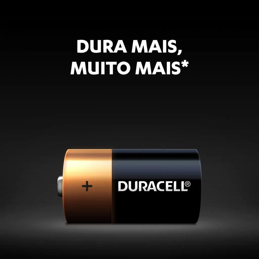 Pilha C Média Duracell Alcalina LR14 Cartela C/2 Unidades