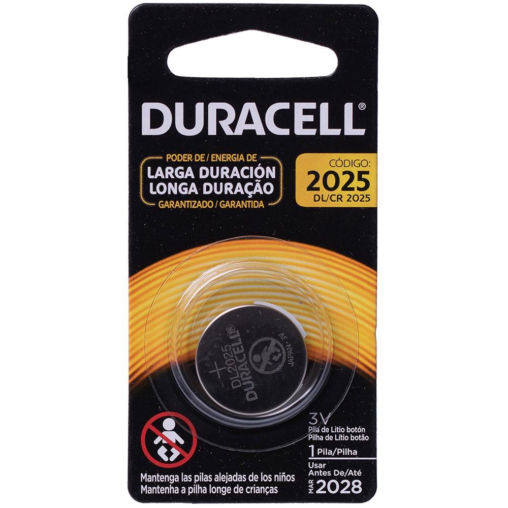 Pilha Cr 2025 Duracell 3v Lithium Bateria Moeda