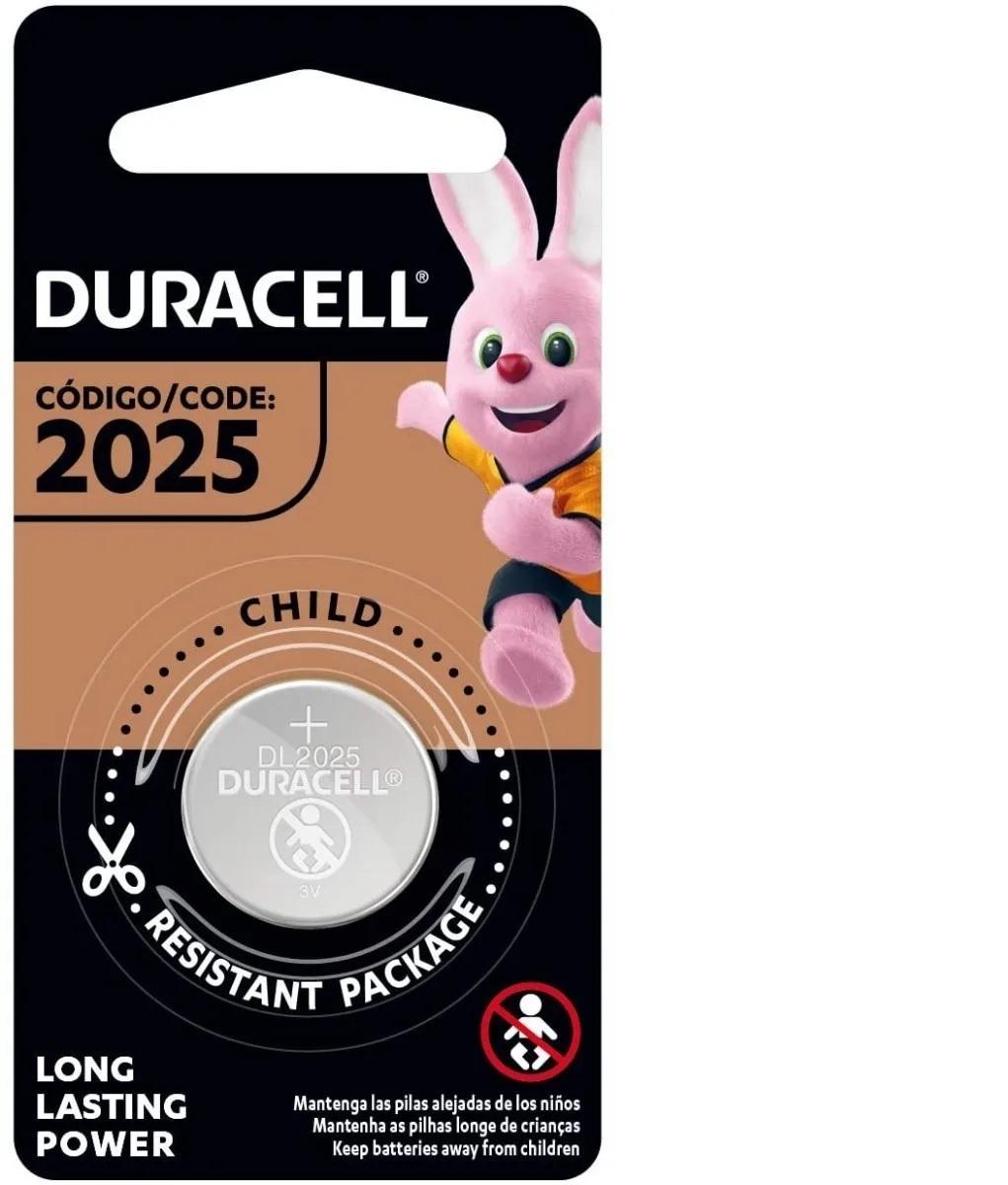 Pilha Cr2025 Duracell 3v Lithium Bateria Moeda