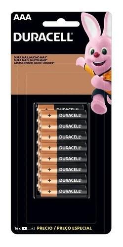 Pilha Duracell Alcalina Combo C/16aaa Palito + 16aa Peq 1.5v