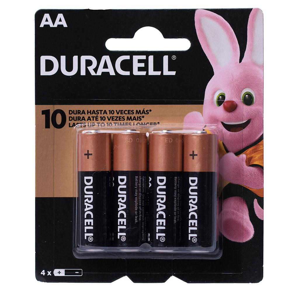 Pilha AA Duracell Alcalina Cartela C/4 Unidades
