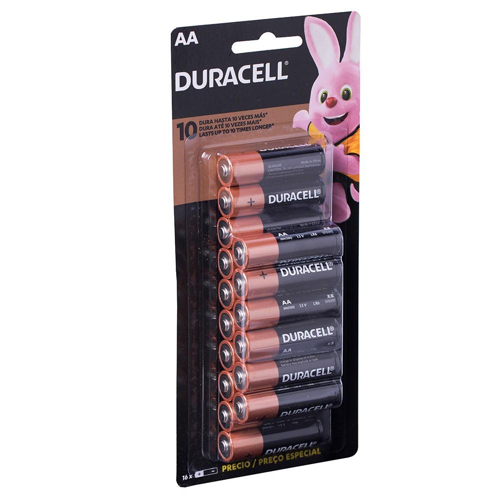Pilha Duracell Alcalina Pequena Aa Econopack Com 16 Unidades