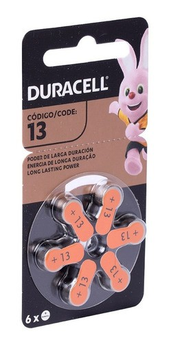 6 Pilhas Auditiva 13 Duracell