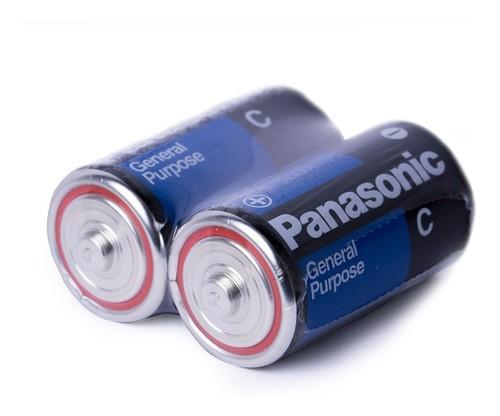 Pilha Média C Panasonic 2 Un 1,5v Original Rádio Brinquedos