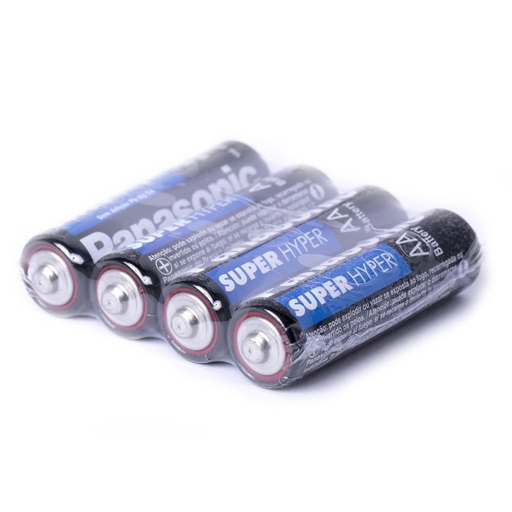 Pilha Palito Aaa 12un + Aa 12un Panasonic Comum Original Kit