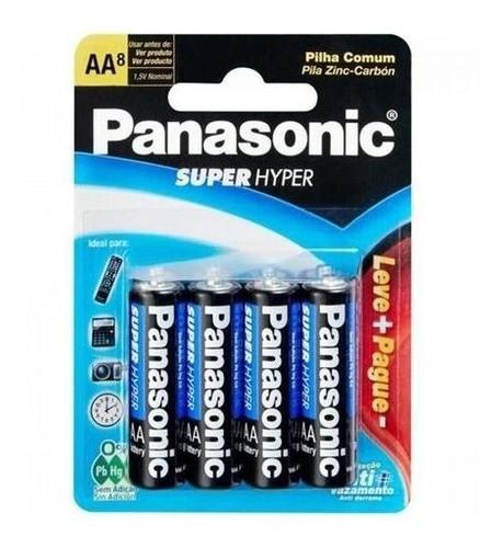 Pilha Panasonic Aa Comum 56 Unidade Revenda Atacado Promoção