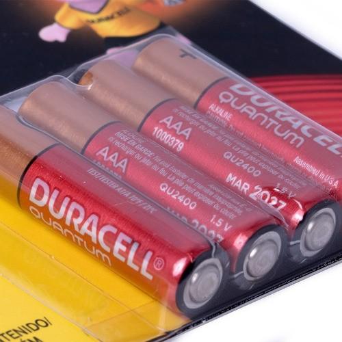 Pilha Quantum Duracell Aaa Alcalina Leve 4 Pague 3 Kit