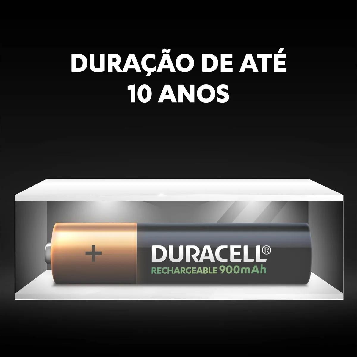 Pilha Recarregável Aaa Duracell 750mah C/2 Unidades