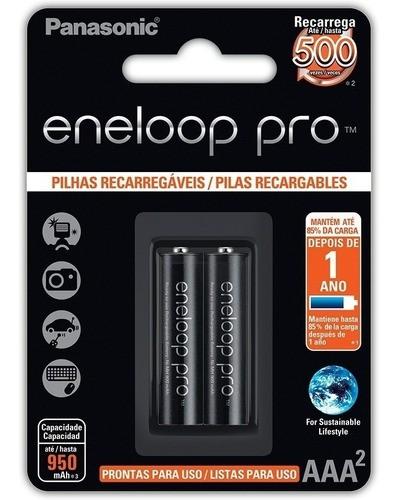 Pilha Recarregável Eneloop Pró Aaa Panasonic Palito C/6 Unid