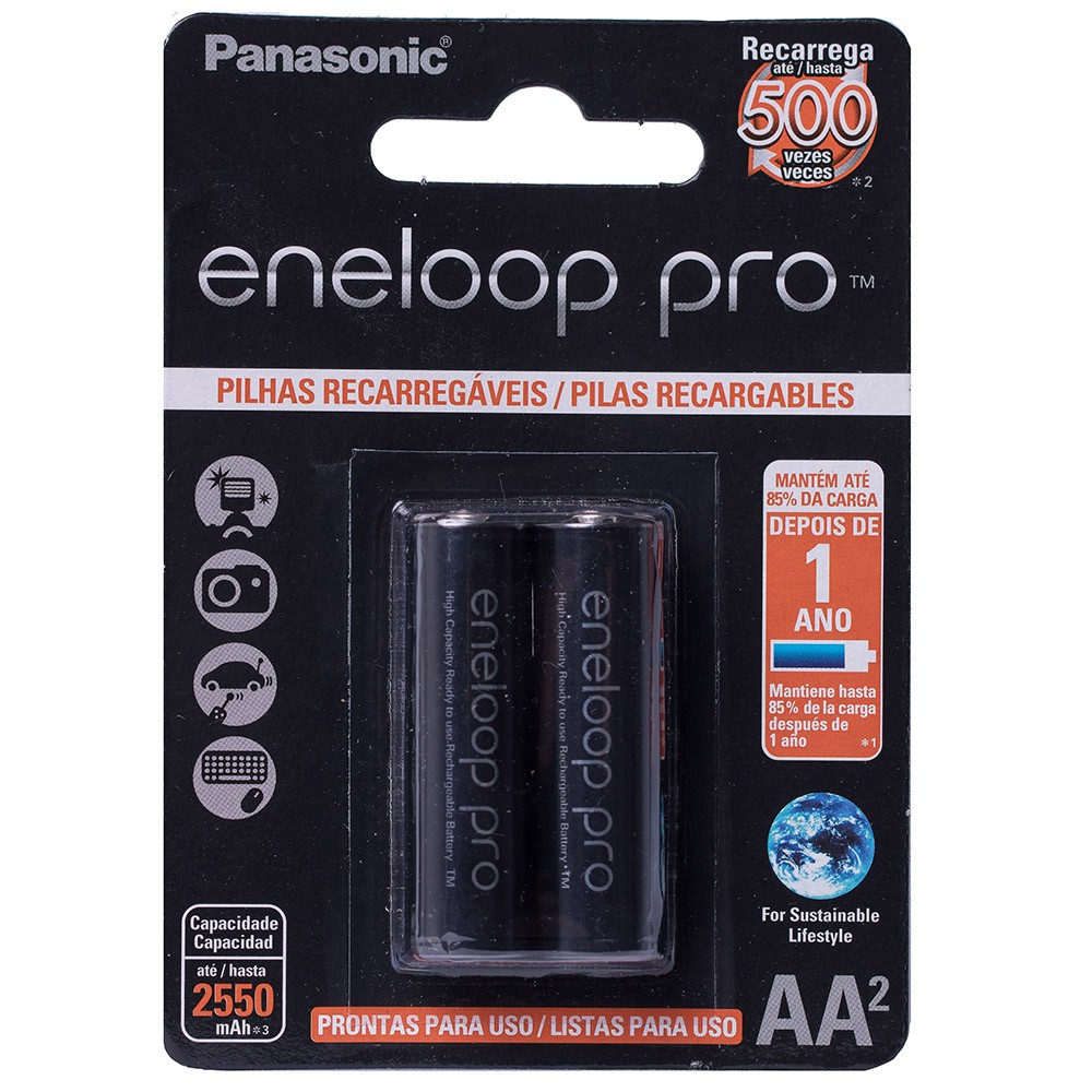 Pilha Recarregável Eneloop Pro Aa Panasonic C/4 Unid