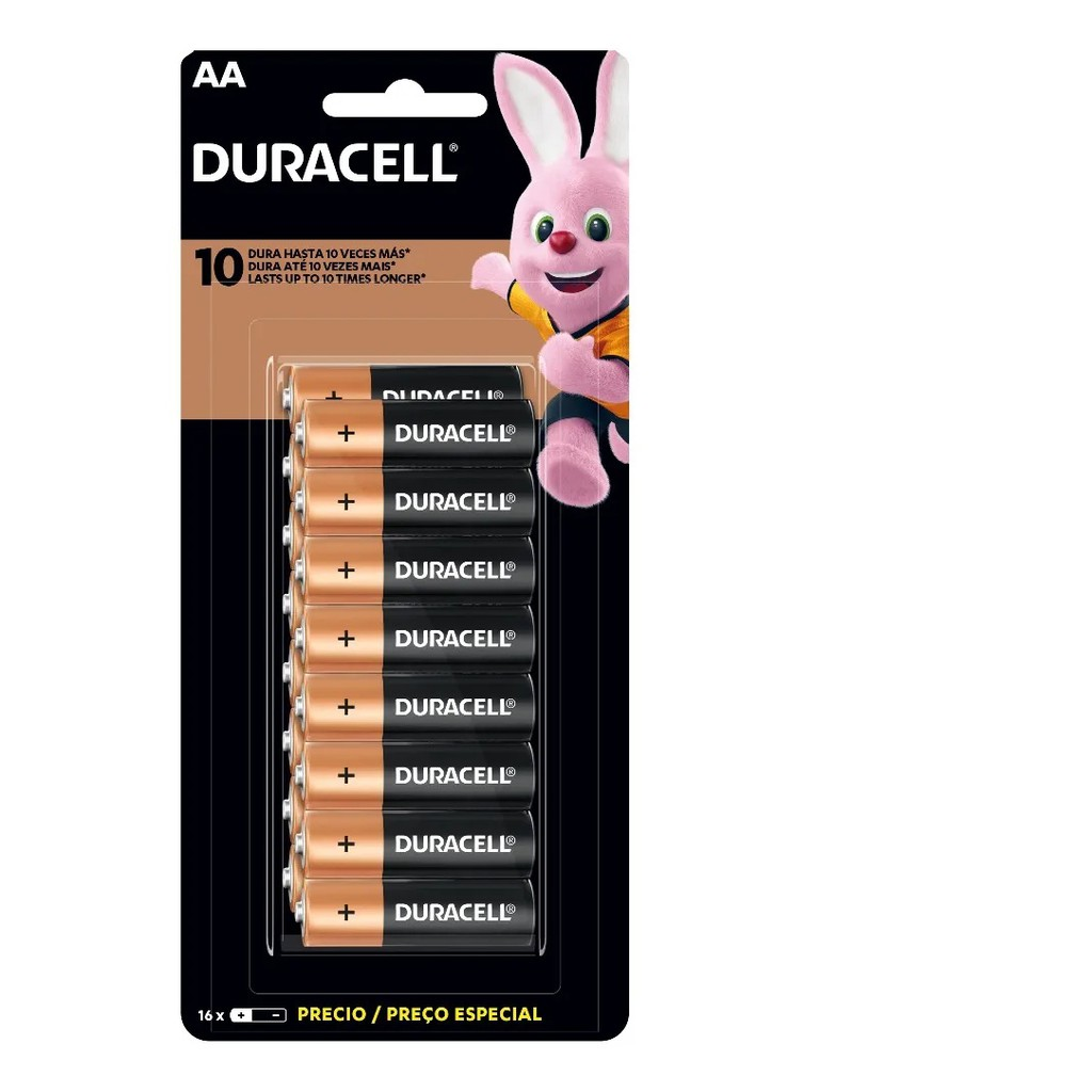 Pilhas AA Alcalina Duracell Econopack 16 Unidades