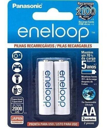 96 Pilhas AA Recarregáveis 2000mah Panasonic Eneloop 48 Cartelas C/2