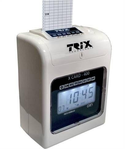 Relógio de Ponto Cartográfico Trix Tecnologia X Card-400