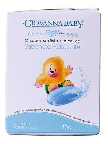 Sabonete Infantil Hidratante Giovanna Baby Giby Azul 80g 3un