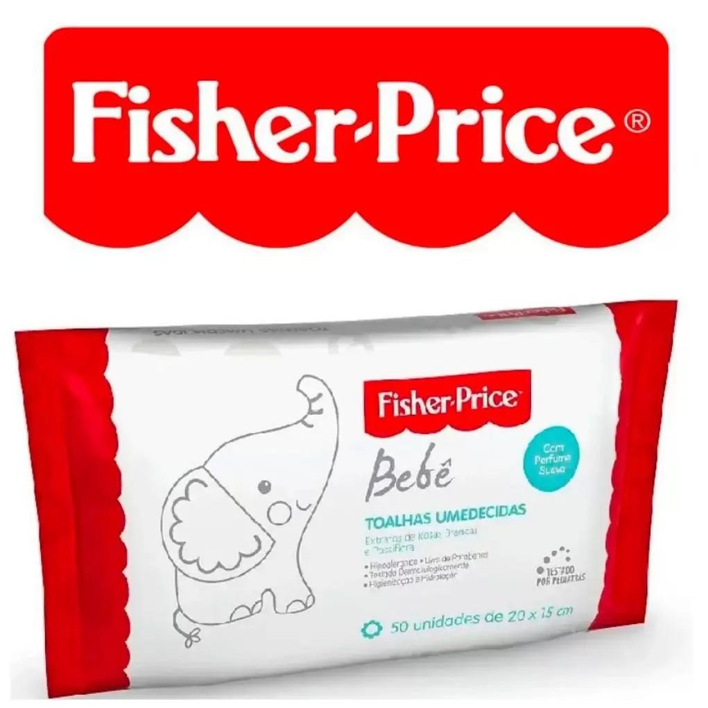 Toalhas Umedecidas Perfume Suave Fisher Price 10 Pacotes Atacado
