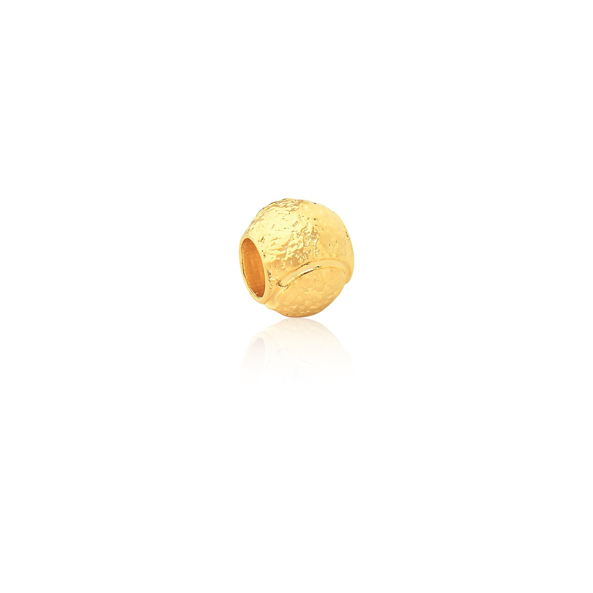Charm Bolinha de Tennis Revestida em Ouro