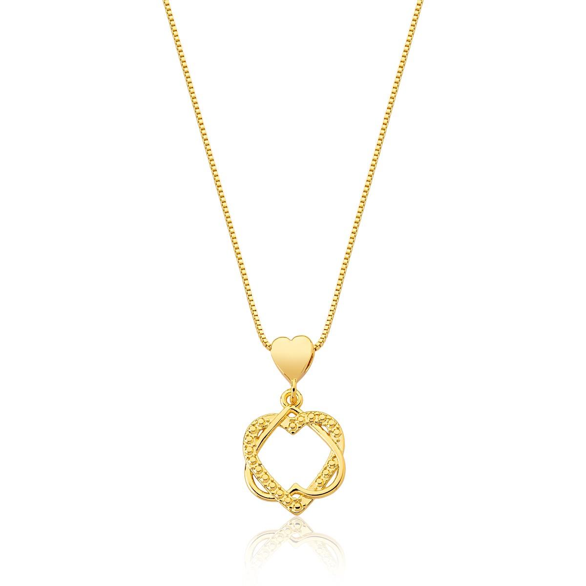 Colar Eternal Love Revestido em Ouro