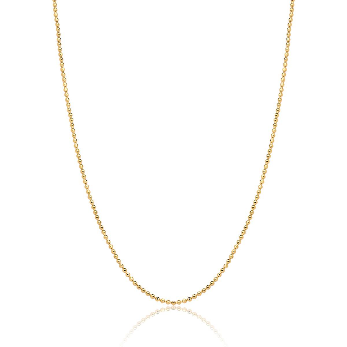 Corrente  Boule D'or de Diamant Revestida em Ouro