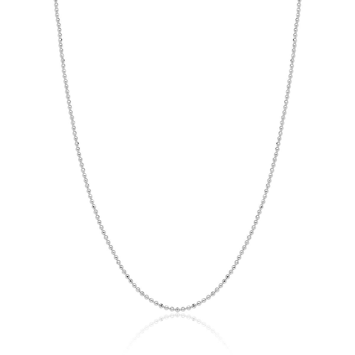 Corrente  Boule D'argent de Diamant Revestida em Prata