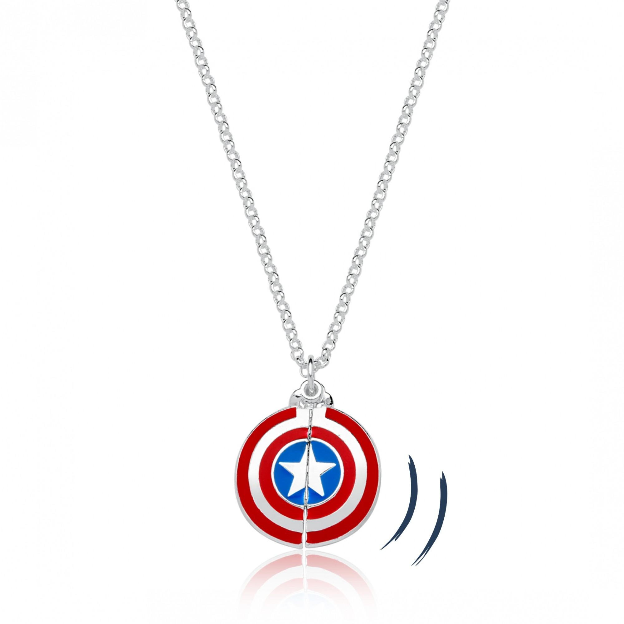Colar Capitão America Martelo Thor Revestido em Prata