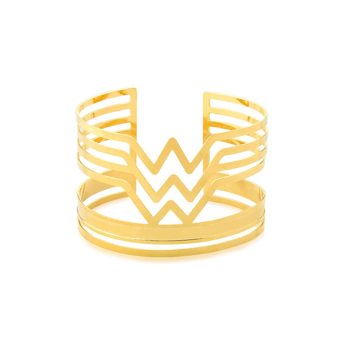 Pulseira Metal, Mulher Maravilha, com Revestimento em Ouro