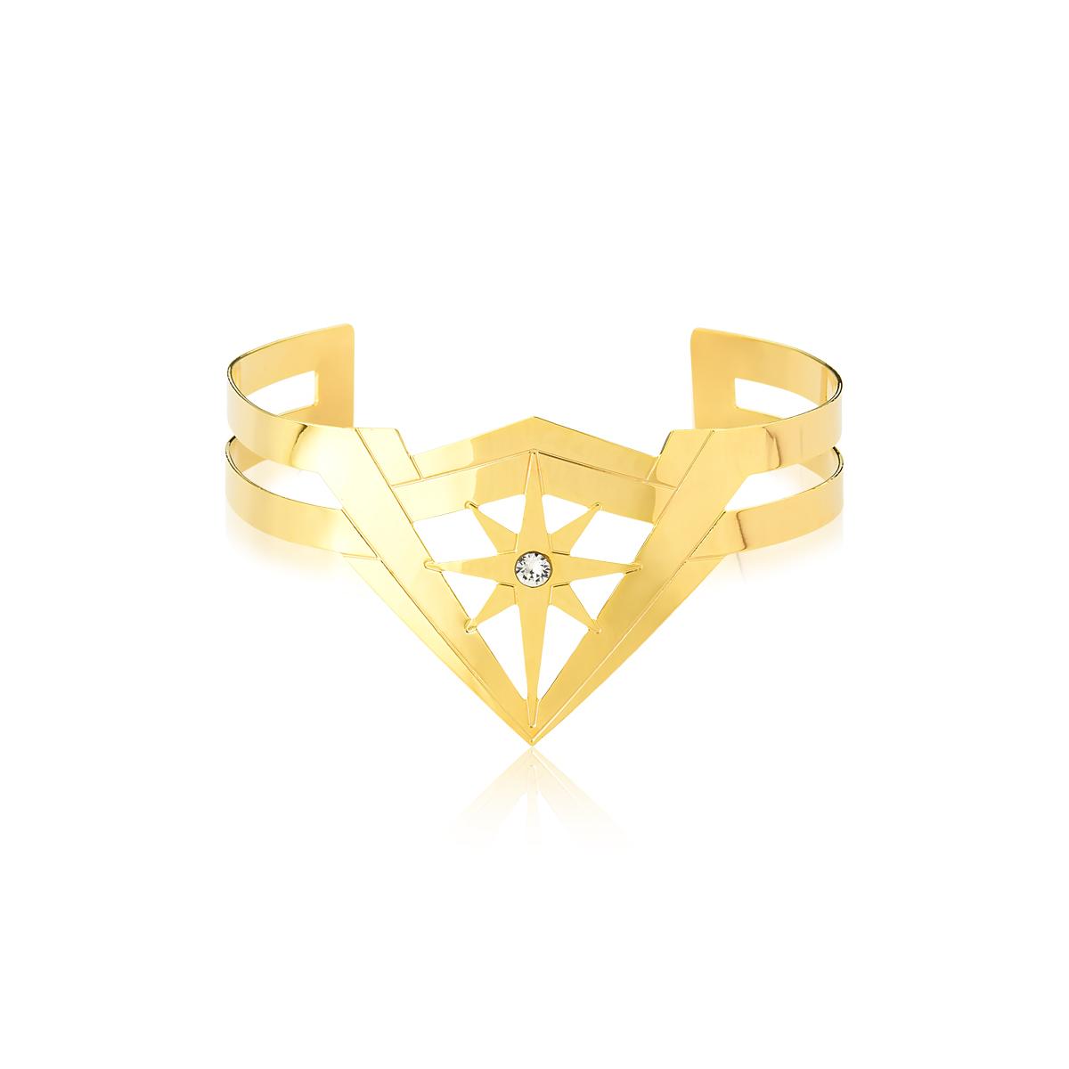 Pulseira Star Crystal Mulher Maravilha Revestida em Ouro