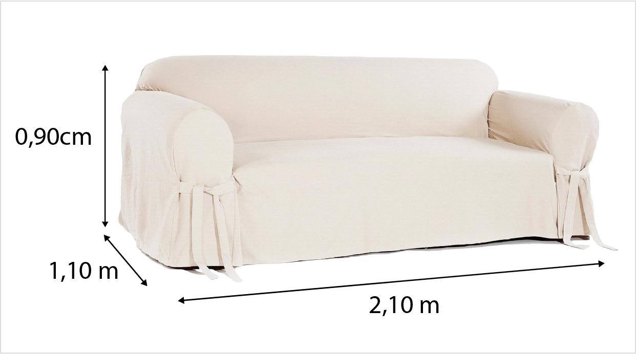 Capa p/ Sofá de 2 Lug BEGE em Piquet