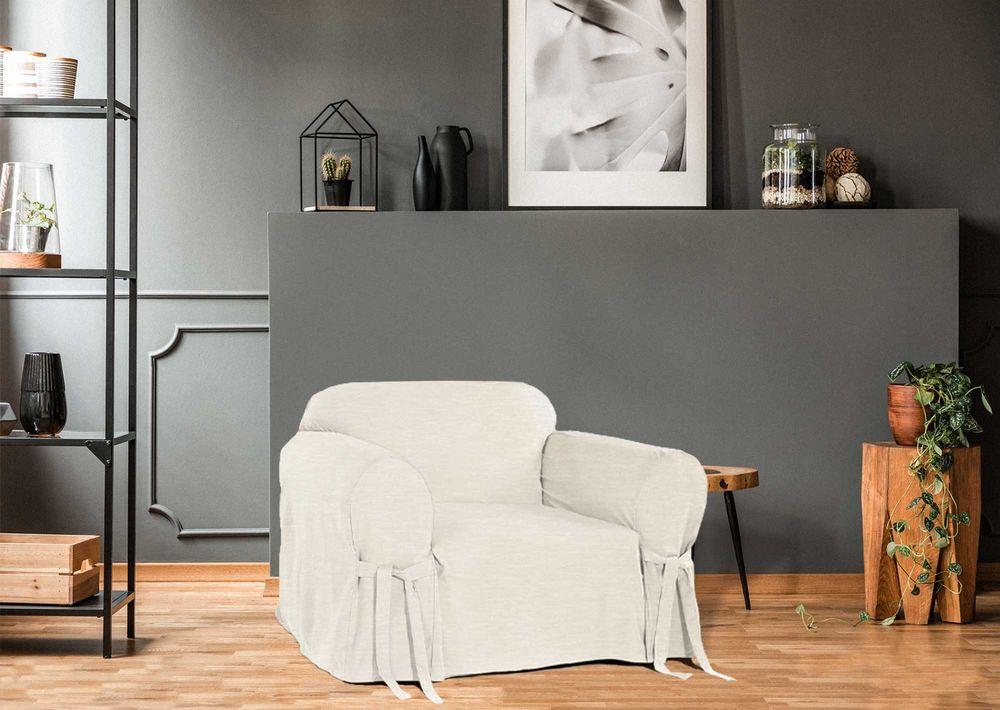 Capa p/ Sofá de 1 Lug CRUA em Brim