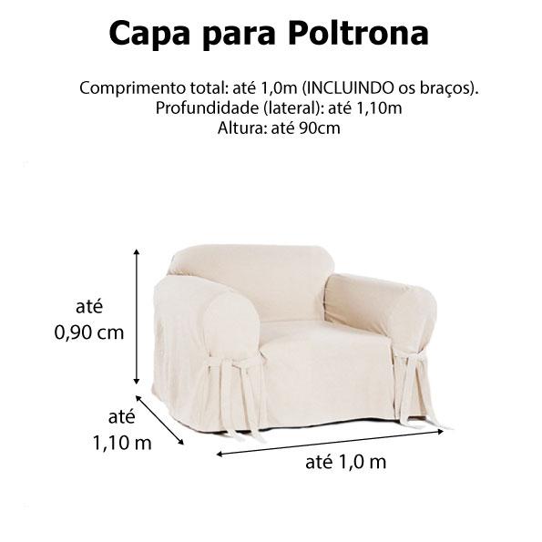 Capa p/ Sofá de 1 Lug PRETO em Gorgurão