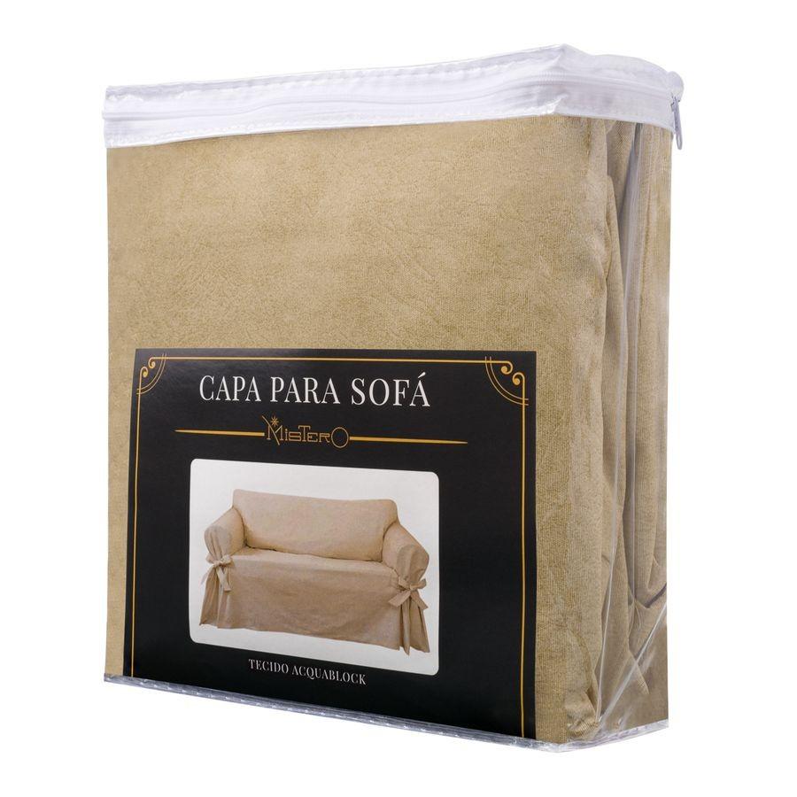 Capa p/ Sofá de 2 Lug BEGE em Acquablock Impermeável