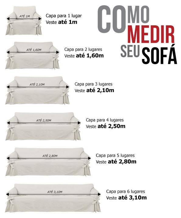 Capa p/ Sofá de 3 Lug GRAFITE em Piquet