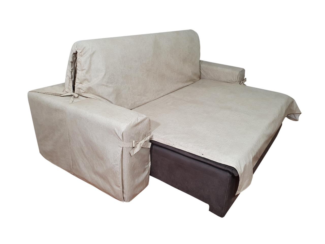 Capa p/ Sofá Retrátil e Reclinável em Acquablock Impermeável BEGE - Veste Sofás de 1,50m até 1,95m